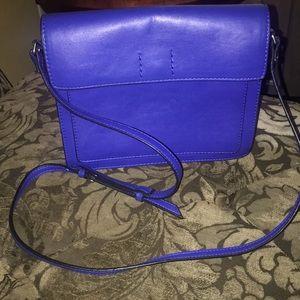 Blue ZARA basic crossbody bag